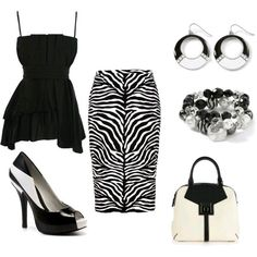 Black and white zebra print skirt #outfit