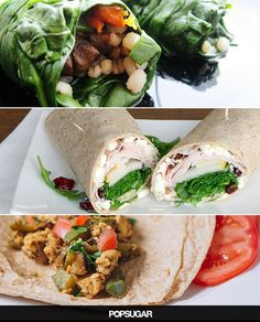 24 easy lunch wraps with delicously healthy fillings