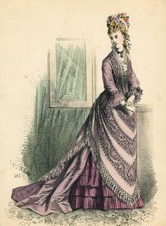 July fashions, 1875 France, L'Élégance Parisienne