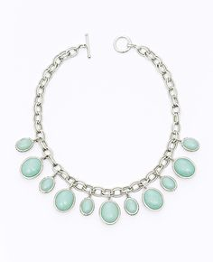 Ann Taylor - AT View All - Short Oval Charm Necklace