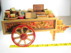 Dollhouse Miniatures Vendors Cheese Cart 1/12 Artisan