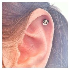 Cute Panda Surgical Steel Stud Earring. Perfect for Helix and Cartilage Piercings. on Etsy, $2.79 AUD