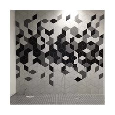 EliteTile Ronbo x Porcelain Field Tile in White Hexagon Tile Bathroom, Contemporary Tile, Wall Finishes, Geometric Wall, Wall Treatments, Tile Patterns, Tile Design, Amazing Bathrooms, Bathroom Inspiration