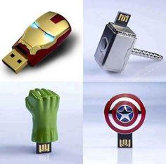 The Avengers USB Flash Drives.  Nerd Alert aka I want these.