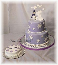 snowflake first birthday cake and smash cake by Diane's Sweet Treats - (Diane Burke), via Flickr