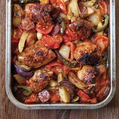 The Hairy Bikers' Spanish-style Chicken Bake 370kcal but would need more potatoes...