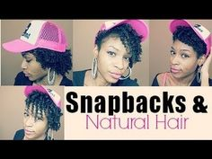 How to wear Snapbacks with Natural Curly Hair| Short Medium Length - YouTube