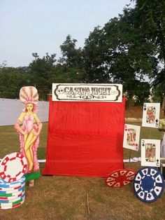 Casino party photo point by Rasm Events
