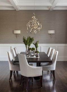 Hamptons Summer Home - traditional - Dining Room - New York - Sean Litchfield Photography