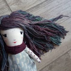 Doll Hair by @tankannatoys   malabrigo