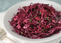 Red Cabbage Slaw with Cranberry Vinaigrette