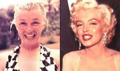 Marilyn Monroe before and after makeup - long before photoshop and light-diffusing foundation and skin primers etc etc . make-up is an art! Maquillage Marilyn Monroe, Marilyn Monroe Makeup, Marylin Monroe, All Things Beauty, Beauty Make Up, Hair Beauty, Makeup Tricks, Beauty Secrets, Beauty Hacks