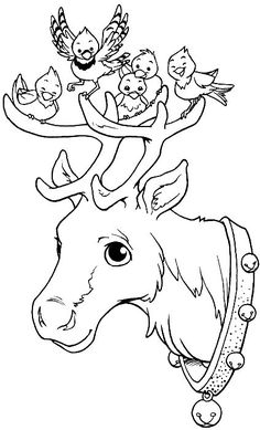 Christmas holidays coloring pages. - Christmas-Winter-New Years ~ Colo . Christmas Coloring Pages, Coloring Book Pages, Christmas Colors, Christmas Art, Xmas, Reindeer Christmas, Christmas Holidays, Colouring Pics, Coloring Pages For Kids
