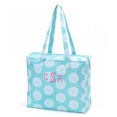 Monogramed Shopping Tote
