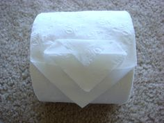 Toilet Paper Origami Triple Point Instructions