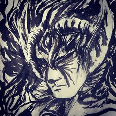 #ink #demon #drawing #drawingforfun