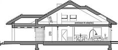 Projekt Domidea 2 d ps 119,87 m2 - koszt budowy - EXTRADOM Bungalow, Ps, Floor Plans, Projects, Bungalows, Photo Manipulation, Floor Plan Drawing, House Floor Plans