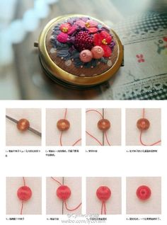3D Embroidery_beads as a berry
