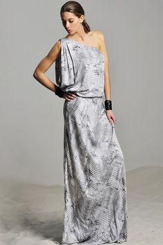 ALEXIS Mercedes One Shoulder Print Maxi Dress by Maxi Monday on @HauteLook