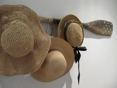 DIY hat rack ideas to hang your hats and caps on, after you are back from the outdoor visits in the summers.