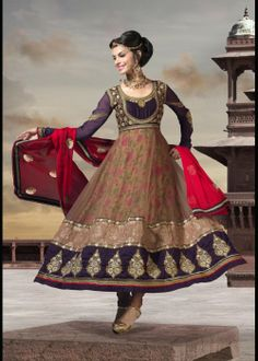 Traditional Style Anarkali Salvar Suit For Every Occassion . Shop at -http://gravity-fashion.com/16391-traditional-style-anarkali-salvar-suit-for-every-occassion.html