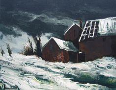 Maurice de Vlaminck - Farmhouse in the Snow, 1957