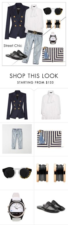 """""""Abercrombie & Fitch One Teaspoon Baggies Jeans"""" by margaritakhanina ❤ liked on Polyvore featuring Balmain, Burberry, Abercrombie & Fitch, Clare V., Quattrocento, Bulgari, Martian, Jil Sander, Gucci and jeans"""