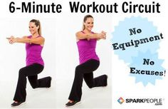 Your Excuse-Proof Workout Plan via @SparkPeople