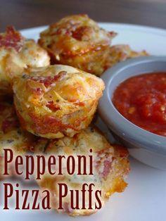 Pepperoni Pizza Puffs | Most Popular Pinterest Pins