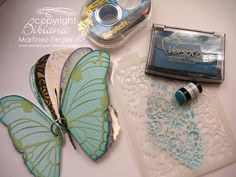 Stamping with Bibiana: Stencil Technique: Stenciling with Inks