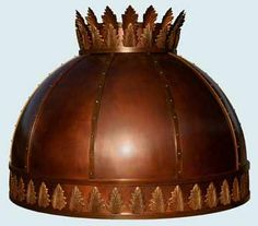 Handcrafted Metal makes spherical copper range hoods that are customized to accommodate your kitchen and your taste. Copper Hood, Copper Crafts, Kitchen Hoods, Copper Kitchen, Range Hoods, Acanthus, Pure Copper, Metal, Kitchen Remodel