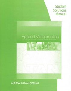 Applied Mathematics for the Managerial, Life, and Social Sciences (Paperback)
