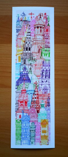 London Towers Giclee Print With Borders Poster Prints, Art Prints, Posters, Detailed Drawings, Architecture Drawings, Conceptual Art, Art Pages, Art Market, Painting Inspiration