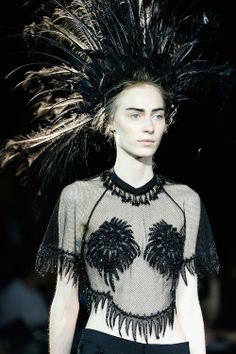 Louis Vuitton's Feathered Headdress