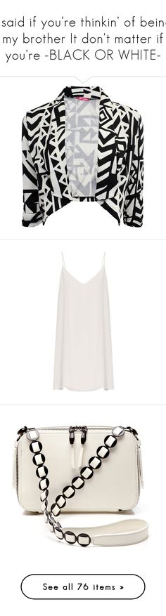 """""""I said if you're thinkin' of being my brother It don't matter if you're -BLACK OR WHITE-"""" by claire86-c on Polyvore featuring outerwear, jackets, blazers, tops, fitted jacket, fitted blazers, blazer jacket, 3/4 sleeve blazer, cropped fitted blazer e dresses"""