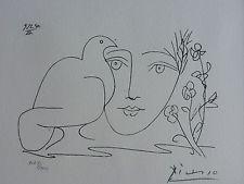 PABLO PICASSO Visage de la Paix 1950  III