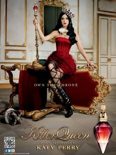Katy Perry 'Killer Queen' New Fragrance Ad Campaign