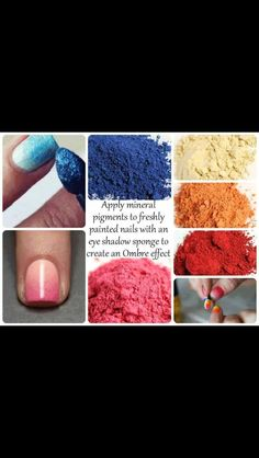 Younique eye shadow used as nail polish. How cool is that? Come check it out @ http://www.elainesmarketingsystem.com