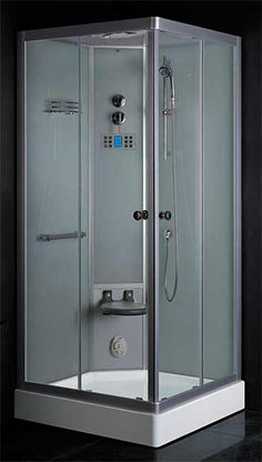steam planet jupiter plus 31 in x 43 in x 86 in steam shower enclosure kit in black steam showers in and x - Steam Shower Units