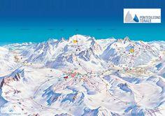 Passo Tonale Piste Map (High resolution / .JPEG) #passotonale #skiing #italy #adamelloski