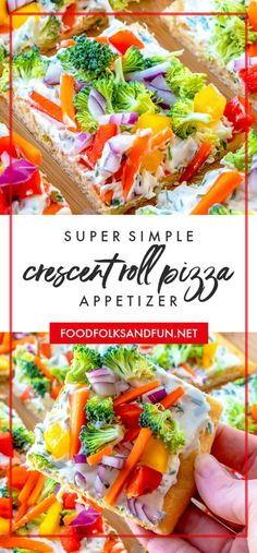This Simple Crescent Roll Pizza Appetizer recipe is easy to make and always a hi. This Simple Crescent Roll Pizza Appetizer recipe is easy to make and always a hit at parties! Crescent Roll Veggie Pizza, Crescent Roll Appetizers, Crescent Roll Recipes, Crescent Rolls, Cheap Appetizers, Pizza Appetizers, Appetizers For Party, Appetizer Recipes, Appetizer Dinner