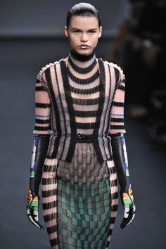 Futuristic Knits: Dior Fall 2013 Couture Lookbook - Lookbooks, Photos | ModaMob