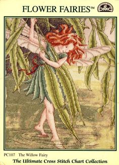 Cross stitch - fairies: Willow fairy - Cicely Mary Barker (free pattern with chart)
