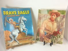 Brave Eagle Coloring Book 1955 Roy Rogers Enterp & Gary Madison Wild Bill…