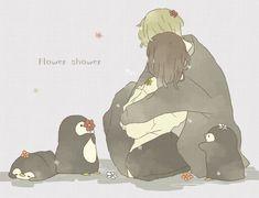 flower and you * Couple Illustration, Illustration Art, Storyboard, Simple Anime, Chibi Couple, Sad Art, Matte Painting, Kawaii Art, Cute Anime Couples