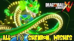 Dragon Ball Xenoverse: All Shenron Wishes (items, characters, ultimates,...