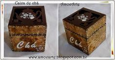 Caixa de chá - filtro de café + mdf http://www.amocarte.blogspot.com.br/