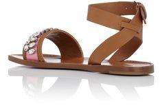 Miu Miu - Crystal-Embellished Sandals Celebrity Shoes, Shoe Sites, Miu Miu Shoes, Embellished Sandals, Crystals, Celebrities, Fashion, Moda, Celebs