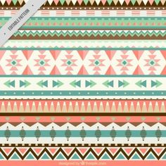 Pattern with geometric shapes