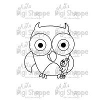 $3.00 Daddy Owl Digital Stamp from A.J.'s Digi Shoppe™